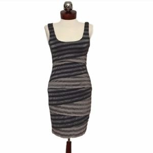 Vince Dresses - 🆕 VINCE stripe metallic jersey tiered bodycon XXS